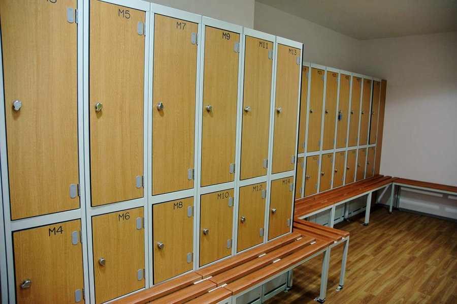 Gym Lockers With Laminated Trespa Doors Supplied By Ezr