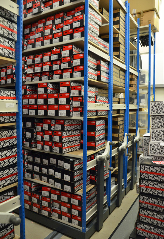 Stockroom Racking For Shoes Mobile Shelving