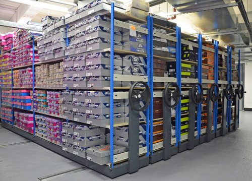 EZR Mobile Roller Racking For Stockrooms