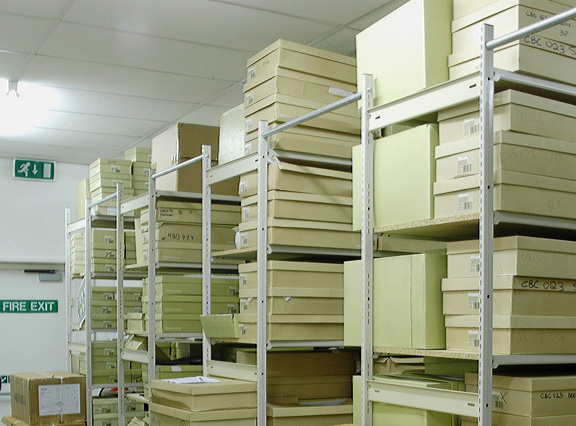 Shelving Units Connected With Aisle-Ties