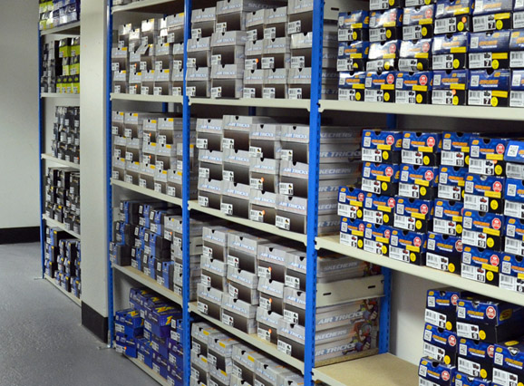 Trimline Shelving Units Within A Stockroom