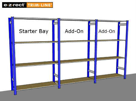 Trimline Shelving Starter and Add-on Bay Graphic
