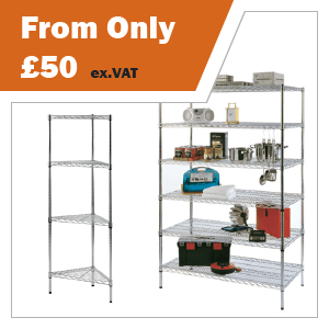 Wire Chrome Shelving