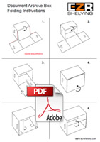 Click to download archive box assembly instructions