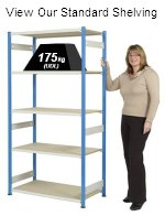 Standard Steel Shelving Without Boxes