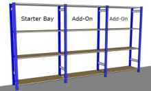 Trimline Shelving Overall Dimensions