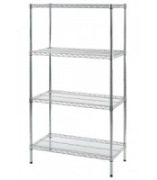 Chrome Shelving Assembled Unit