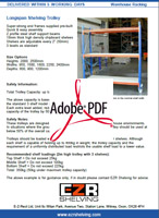 Longspan Shelving Trolley Info Sheet