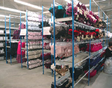 EZR Racking Units Holding Lingerie In A Retail Stockroom