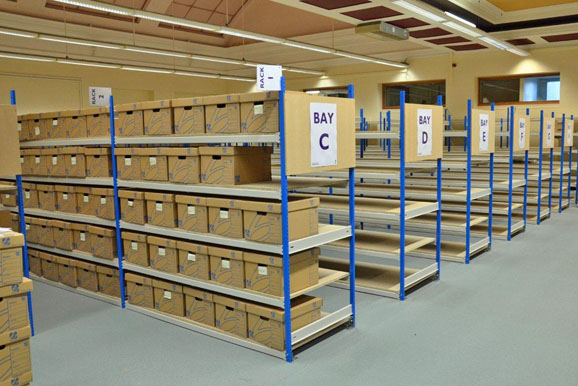 Archive Storage Shelving For Newport Council