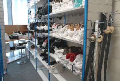 Stockroom Shelving for handbags
