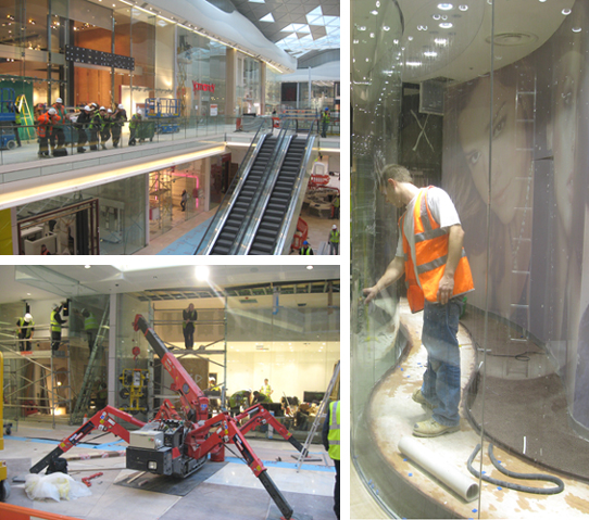 Installation and construction photos at white city