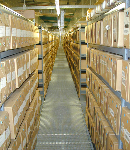 Coal Authority Archive Shelving