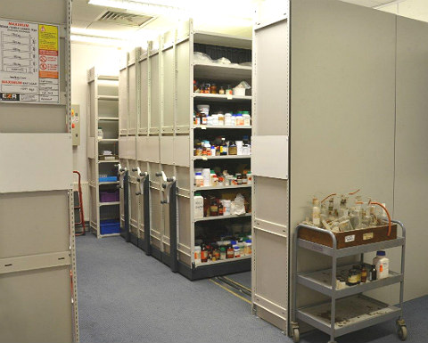 Crypt School Mobile Shelving