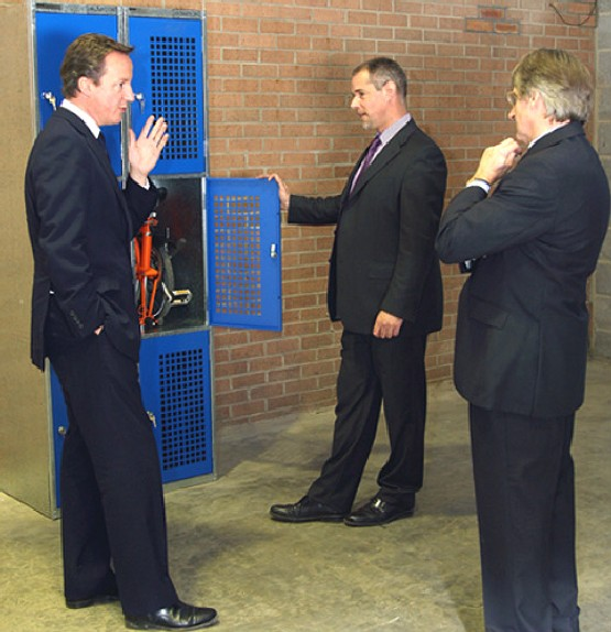 David Cameron Discusses The Benefits Of Folding Bike Lockers