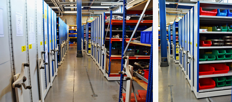 Heavy duty roller racking solution