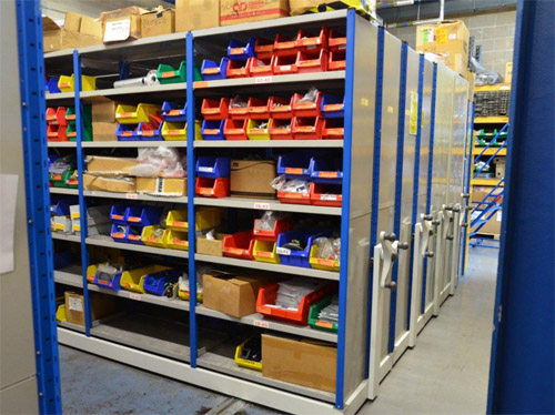 Mobile Engineering Stores Shelving