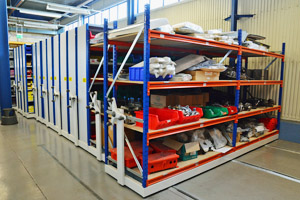 Industrial roller racking units