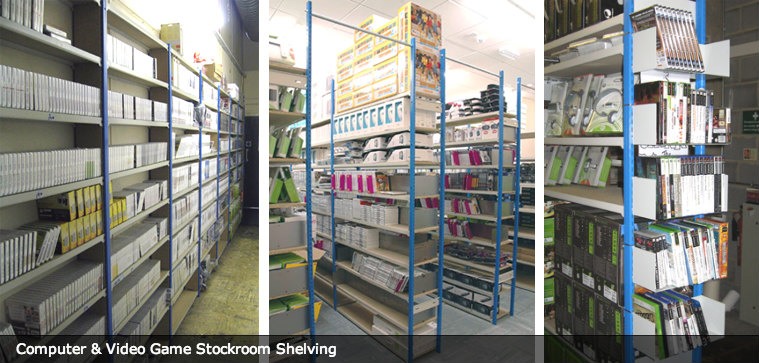 Computer & Video Game Stockroom Shelving