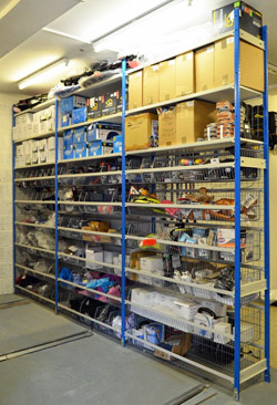 stockroom shelving racks