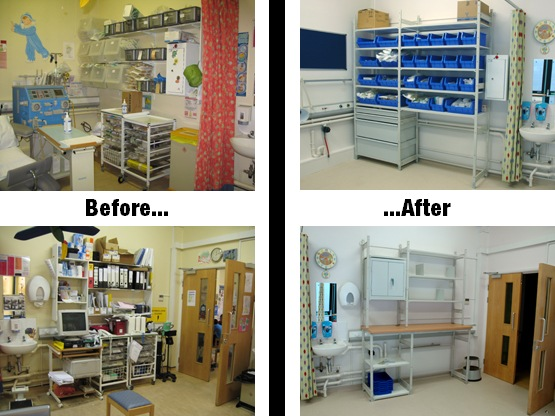 Hospital Ward Storage Solution Before & After