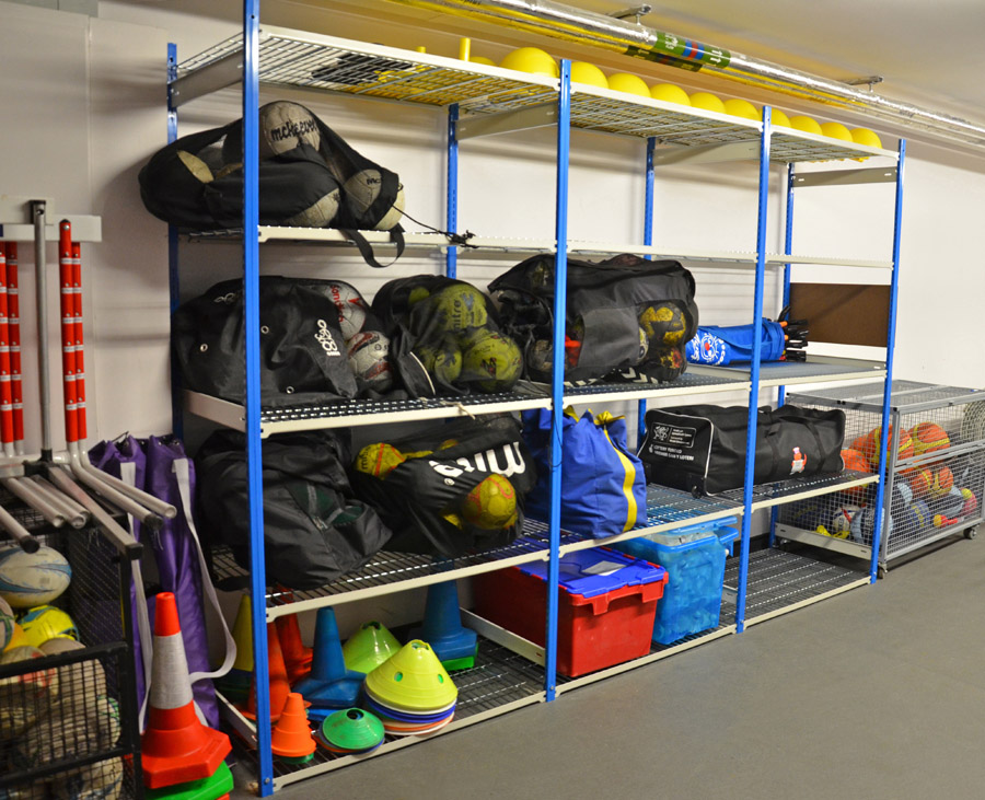 Wire Shelves For Storing Sports Equipment