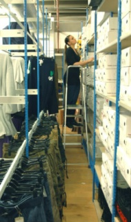 Slimline shoe and garment racking