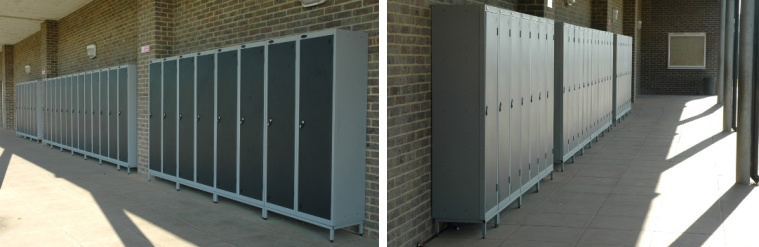 School Outdoor Lockers With Aquacoat
