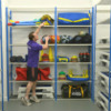 Wire Shelving Solution For Wellsway School Sports Hall