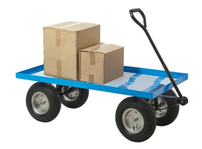 Turntable truck with boxes