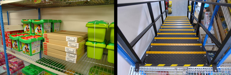 Two Tier Shelving Racks For Toy Retailers