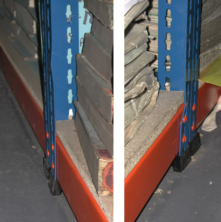Unsafe Racking Posts