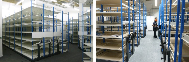 Mobile Roller Racking For Retail Stockrooms