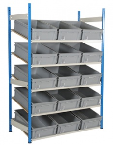 Sloping Euro Container Shelving - 600 x 400