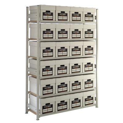Archive Storage Shelving - 24 Boxes