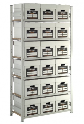 Archive Box Shelving Unit (18 Boxes)