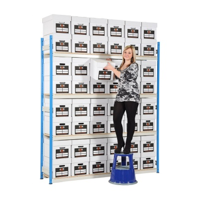 Trimline Boltless Archive Box Shelving - 48 Boxes