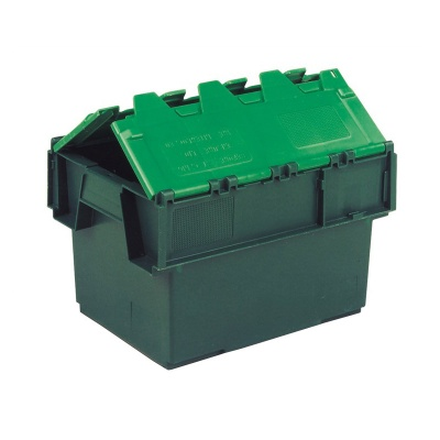 Pack Of 5 Attached Lid Containers - 20 Litre (400x300x252mm)
