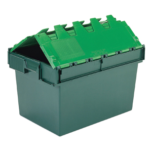 Pack Of 5 Attached Lid Containers - 64 Litre (600x400x365mm)