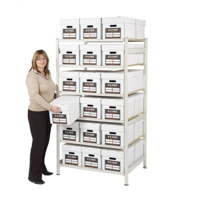 Archive Box Shelving - Double Deep H1830mm