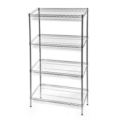 Chrome Wire Sloping Shelving