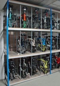 3 Tier Folding Bike Divider Rack