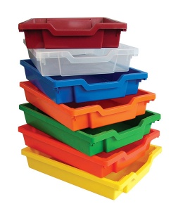 Gratnells Shallow Storage Trays (Pack of 6)