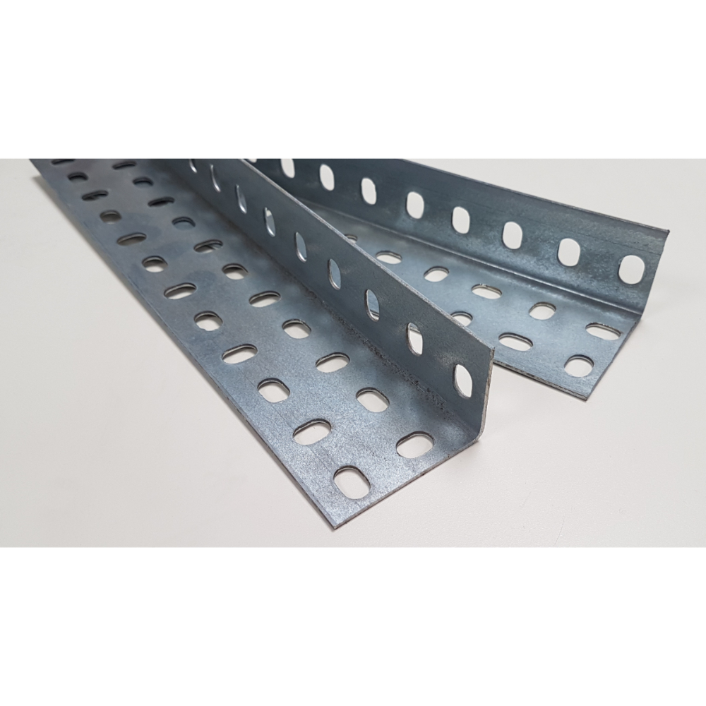 Slotted Construction Angle 60 x 40mm Galvanised - Pack of 10