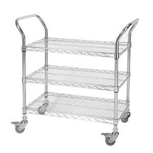Chrome Wire Trolley - 3 Tier