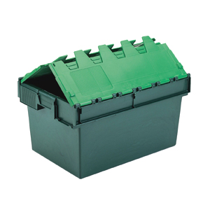 Pack Of 5 Attached Lid Containers - 54 Litre (600x400x320mm)