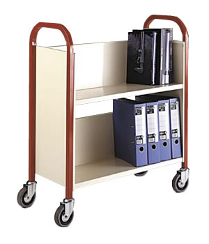 Heavy Duty Steel Book Trolley