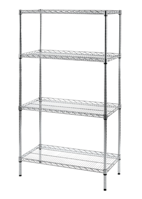 Chrome Wire Lipped Shelf Rack