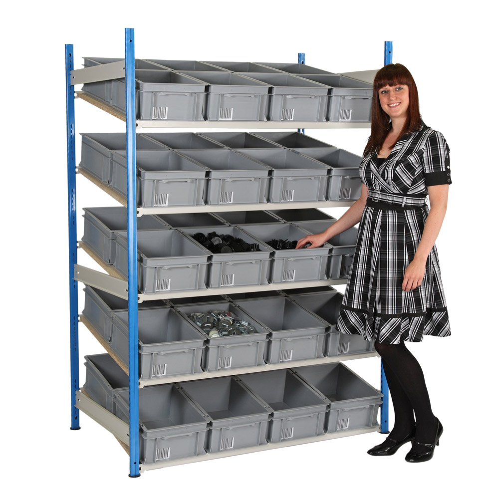 Sloping Euro Container Shelving - 400 x 300
