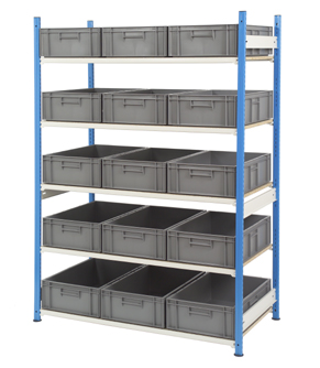 Euro Container Shelving 600 x 400mm Boxes